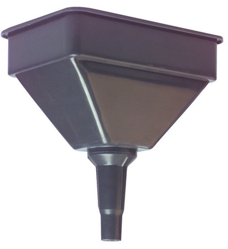 large plastic funnel with strainer